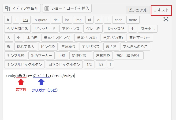 Wordpressにルビ