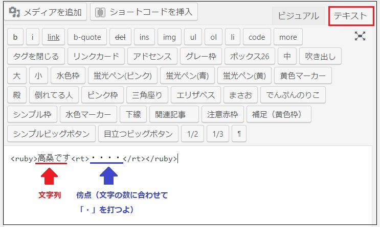 Wordpressで傍点
