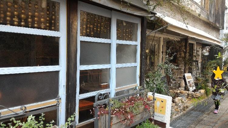 ポパンクールカフェ玄関